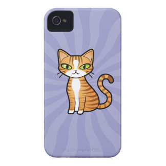 Design Your Own Cartoon Cat iPhone 4 Case-Mate Case