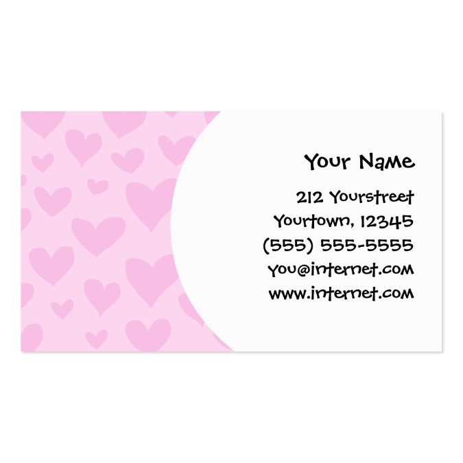 Design your own cartoon cat love hearts business card for Make your own business cards template