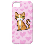 Design Your Own Cartoon Cat (love hearts) iPhone 5 Cover