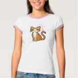 Design Your Own Cartoon Cat (love hearts) Tshirts