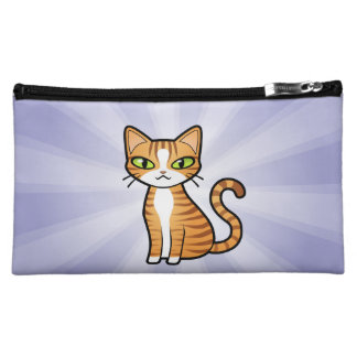 Design Your Own Cartoon Cat Makeup Bags