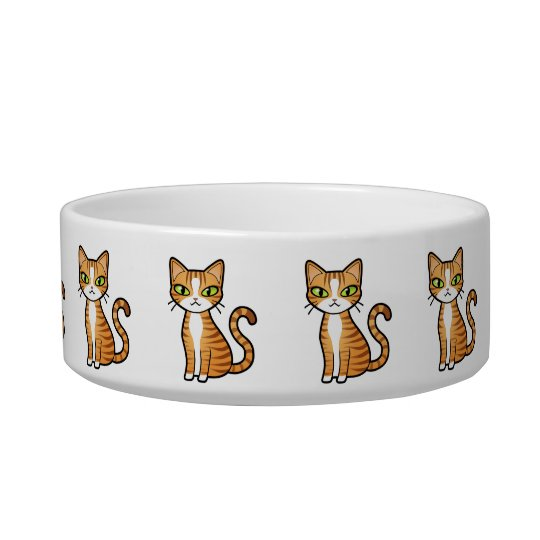 Design Your Own Cartoon Cat Pattern Bowl
