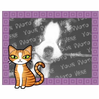 Design Your Own Cartoon Cat Photo Sculpture Magnet