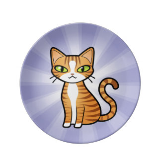 Design Your Own Cartoon Cat Plate