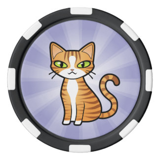 Design Your Own Cartoon Cat Poker Chips