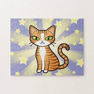 Design Your Own Cartoon Cat Puzzles