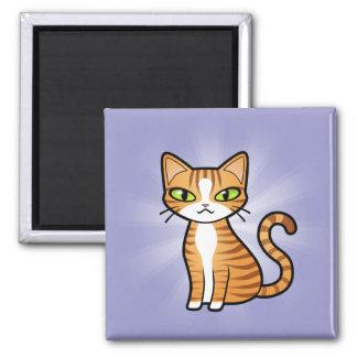 Design Your Own Cartoon Cat Square Magnet