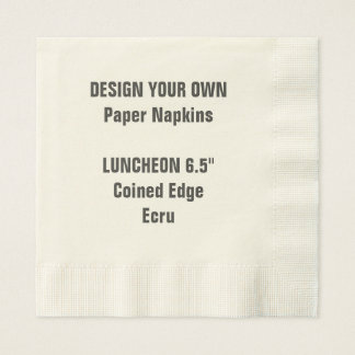 Design Your Own Coined Edge LUNCHEON Paper Napkins
