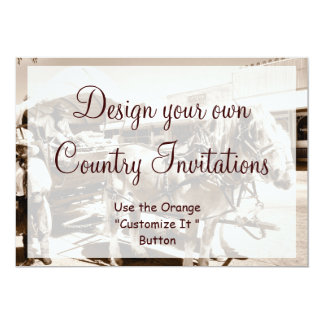 Design your Own Country Invitations Cowboy Horses