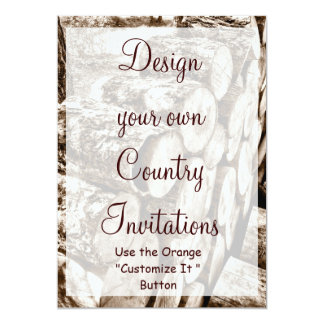 Design your Own Country Invitations Template Wood