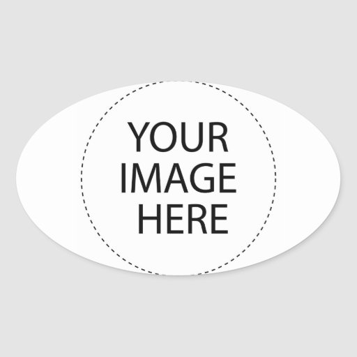 Design Your Own Custom Gifts - Blank Oval Sticker