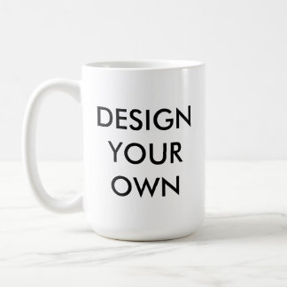 Design Your Own Custom Personalized White Mug