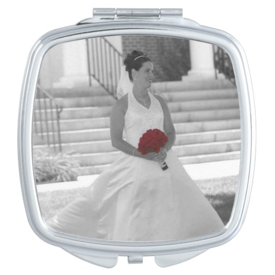 Design Your Own Custom Photo Square Compact Mirror