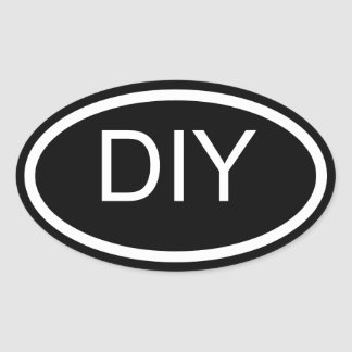 Design Your Own Euro Style Oval Sticker