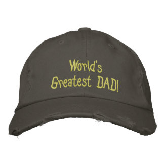 Design Your Own Fathers Day Baseball Destroyed Cap Embroidered Hats