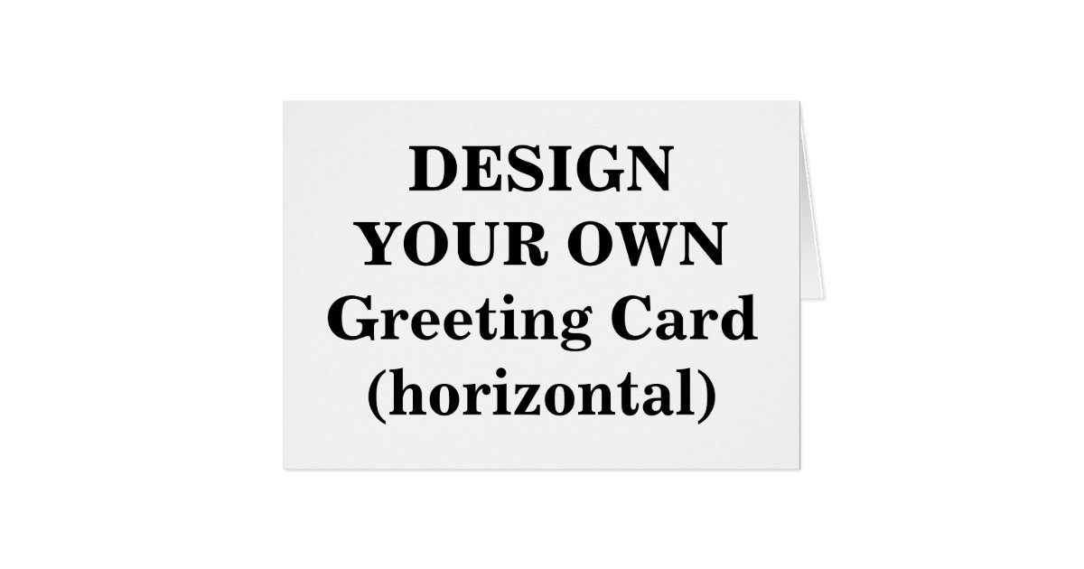 Design your own greeting card horizontal zazzle for Make your own singing christmas card