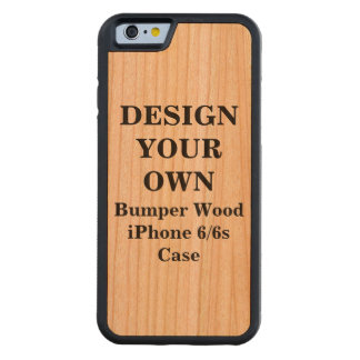Design Your Own iPhone 6/6s Bumper Wood Case Cherry iPhone 6 Bumper Case