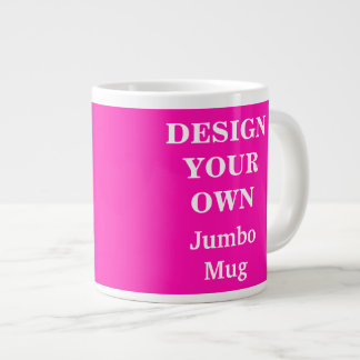 Design Your Own Jumbo Mug - Bright Pink