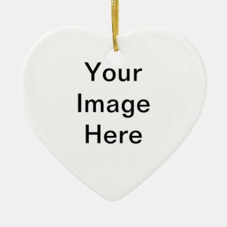 Design Your Own Logo Ceramic Heart Decoration