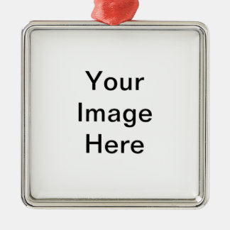 Design Your Own Logo Silver-Colored Square Decoration