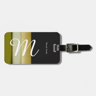 design your own luggage tag with name & stripes