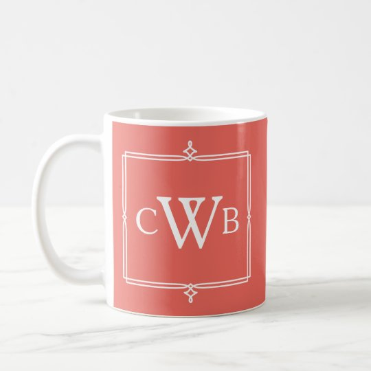 Design Your Own Monogram Customisable Colour Hue Coffee