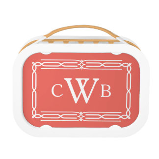 Design Your Own Monogram Customizable Color Hue Lunch Box