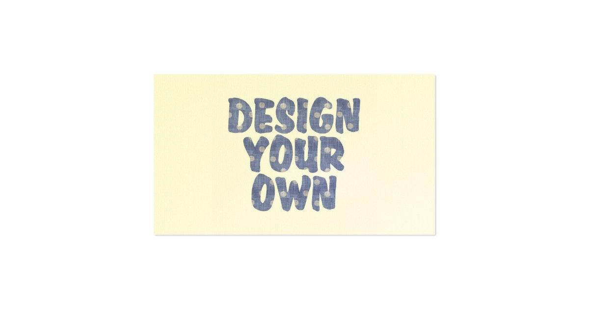Design Your Own Pack Of Standard Business Cards Zazzle