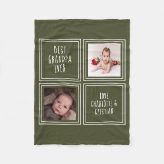 Design Your Own Personalised 2 Photo And Text Fleece Blanket