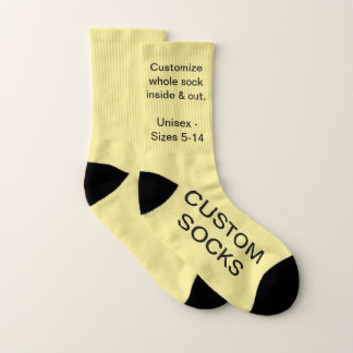Design Your Own Personalised Small YELLOW Socks 1