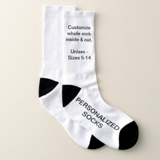 Design Your Own Personalized Large Socks 1