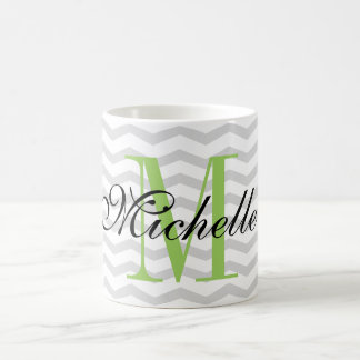 Design your own personalized monogram chevron mug