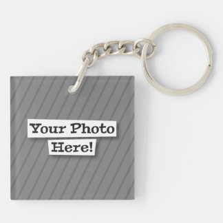Design Your Own Pet & Photo Double-Sided Square Acrylic Key Ring