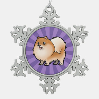 Design Your Own Pet Snowflake Pewter Christmas Ornament