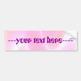 Design Your Own Pink Bumper Sticker