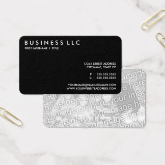 design your own plain black and white. business card