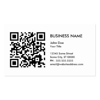 design your own QR code Pack Of Standard Business Cards