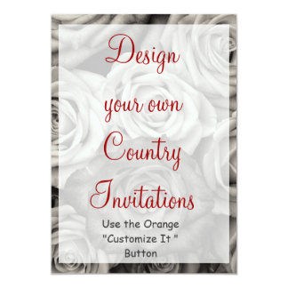 Design your Own Roses Invitations Blank Template