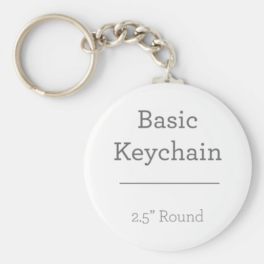 5.7 cm Basic Button Key Ring