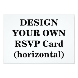 Design Your Own RSVP Card (horizontal) 9 Cm X 13 Cm Invitation Card