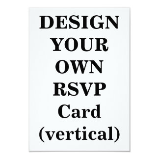 Design Your Own RSVP Card (vertical)
