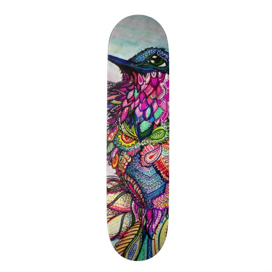 Design Your Own Skateboard Fantasy Bird in Flight