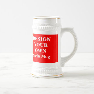 Design Your Own Stein Mug - Red and White
