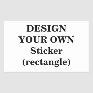 Design Your Own Sticker (rectangle)