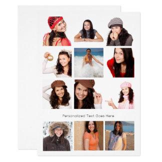 Design Your Own Twelve Photo Personalized 13 Cm X 18 Cm Invitation Card