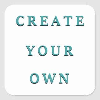 Design Your Own Unique DIY Square Sticker