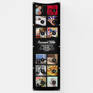 Design Your Own Vertical Banner 12 pics +text easy