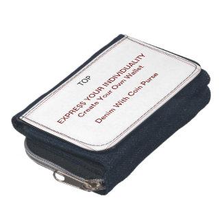 Design Your Own Wallet - Denim w/ Coin Purse