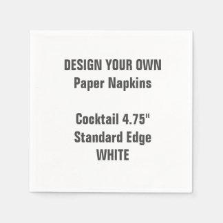 Design Your Own WHITE Cocktail Paper Napkins Paper Napkin