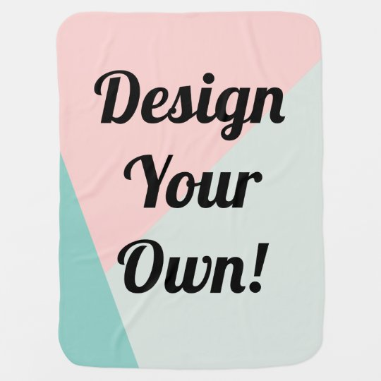 Design Your Personalised Custom Gift Baby Blanket